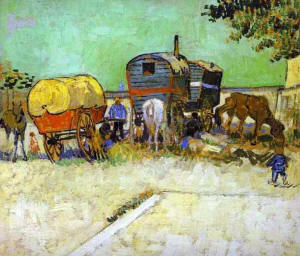 Gypsy caravans by Van Gough